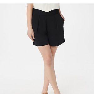 Du Jour black dress shorts size 12 New never worn